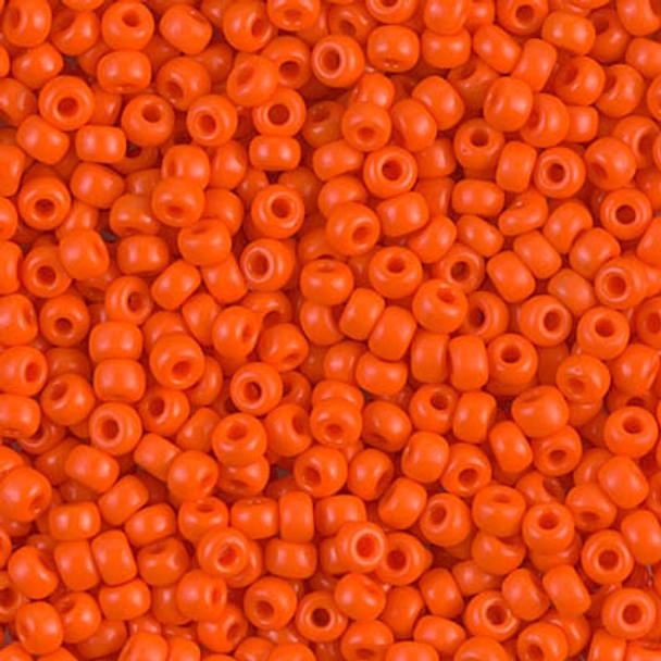 Size 8 Miyuki Seed Beads -- 406 Opaque Orange