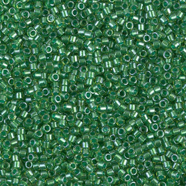 Delicas Size 11 Miyuki Seed Beads -- 916 Chartreuse / Sparkling Light Green Lined