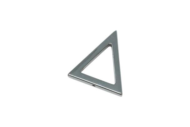Hematite 30mm Triangle Pendant