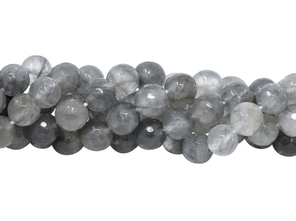 Cloudy Quartz Polished 10mm Faceted Round