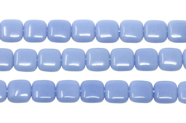 Blue Aragonite Polished 12mm Square - Glow in the Dark