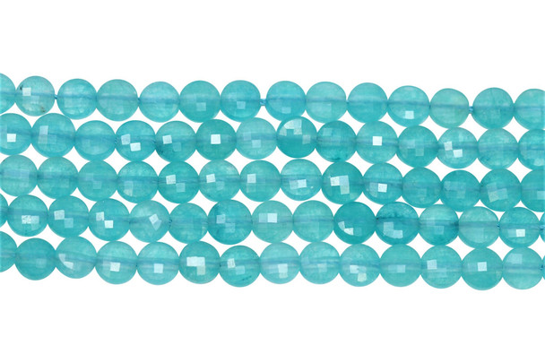 Chalcedony Polished 6mm Faceted Coin