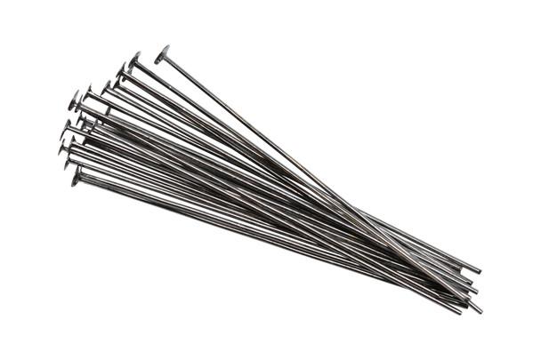 "Gunmetal 1.5"" Long 24 Gauge Head Pins - 20 Pieces"