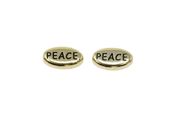 Peace Bead - Gold Plated