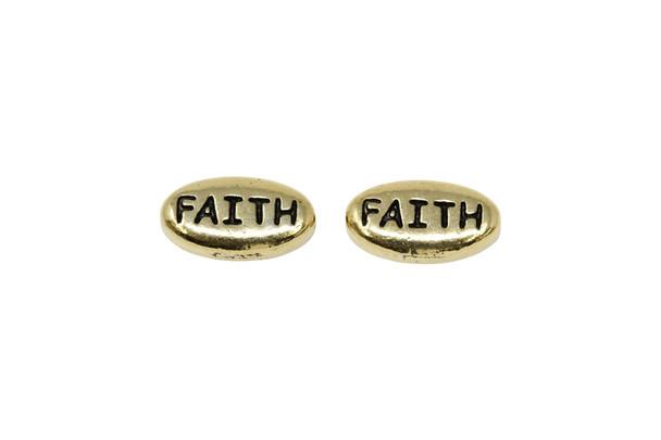 Faith Bead - Gold Plated