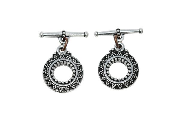 Bali Toggle Bar and Eye - Silver Plated