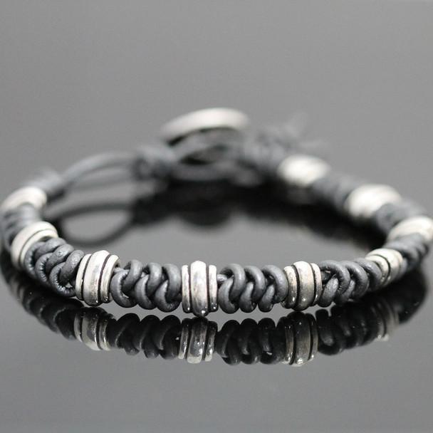 Spanish Knot Bracelet Kit: Gunmetal and Silver