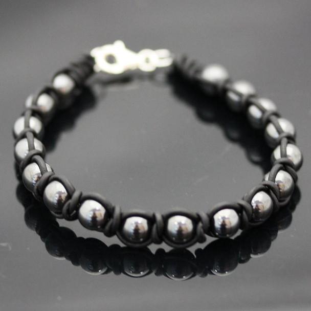 Men's Intermediate Spanish Knot Bracelet Kit: Hematite