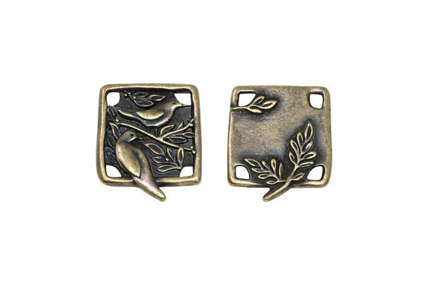 Botanical Bird Link - Antique Brass