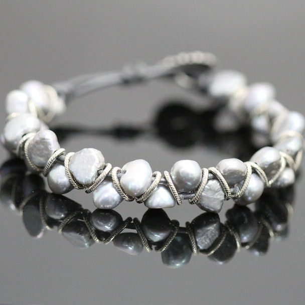 Dancing Pearl Bracelet Kit - Silver