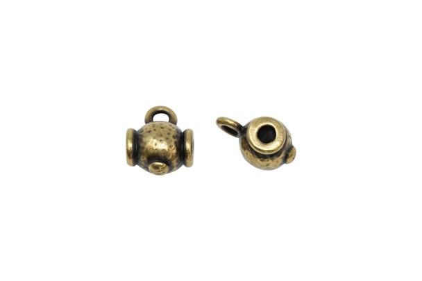Hammered Guru Bead - Brass Plated