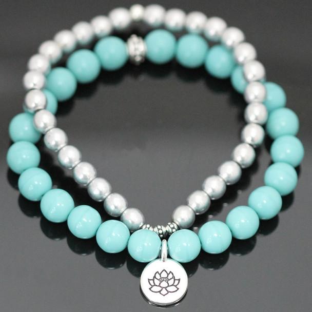 Stretch Bracelets Kit - Turquoise & Silver