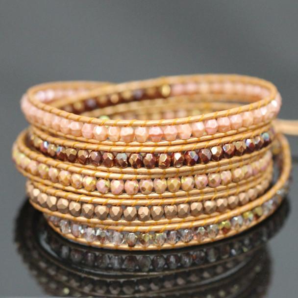 Copper Lights Leather Five Wrap Bracelet Kit