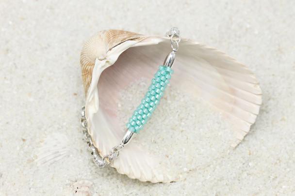 Kumihimo Bracelet Bar Kit - Turquoise