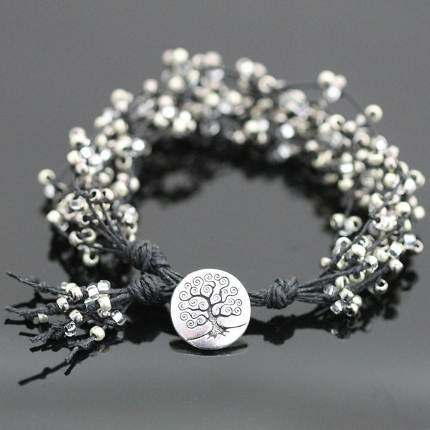 Tree of Life Bracelet Kit - Black and Silver