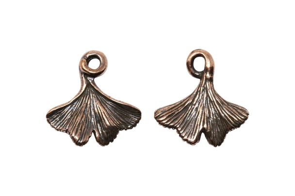 Ginkgo Leaf Charm - Copper Plated