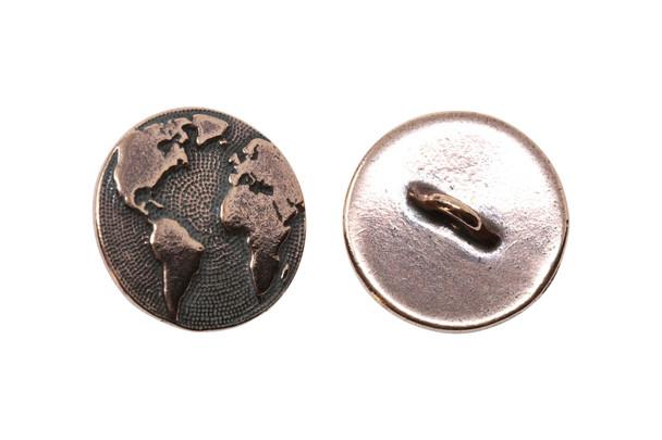 Earth Button - Copper Plated