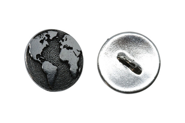 Earth Button - Silver Plated