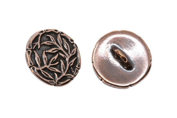 Bamboo Button - Copper Plated