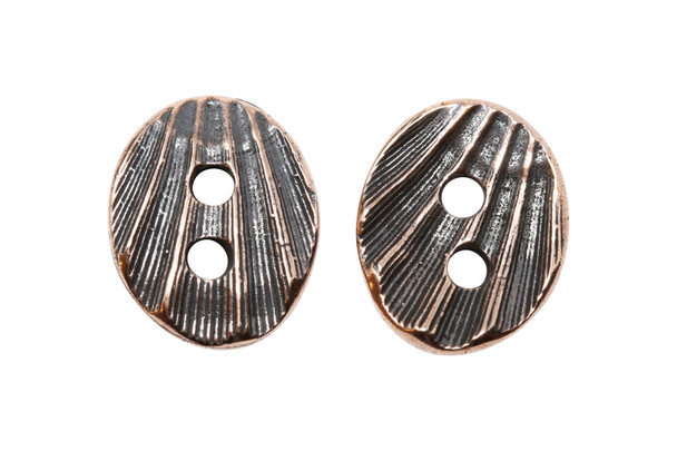 Shell Button - Copper Plated