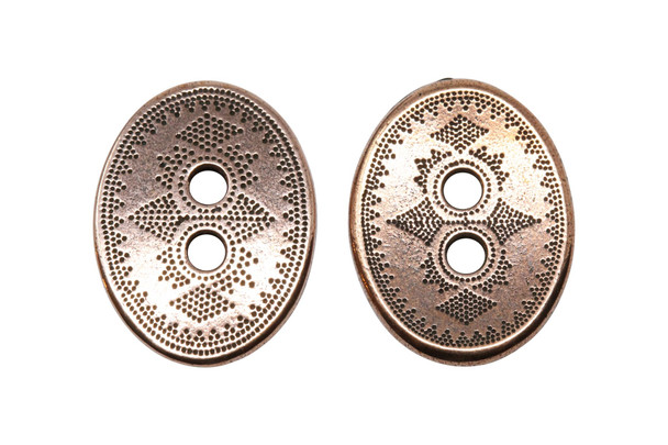 Tribal Button - Copper Plated