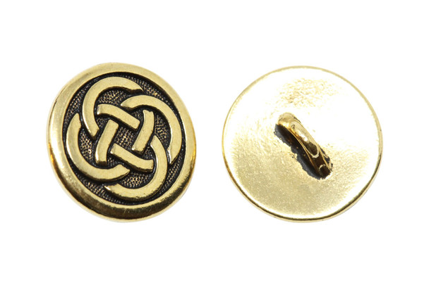 Celtic Knot Button - Gold Plated