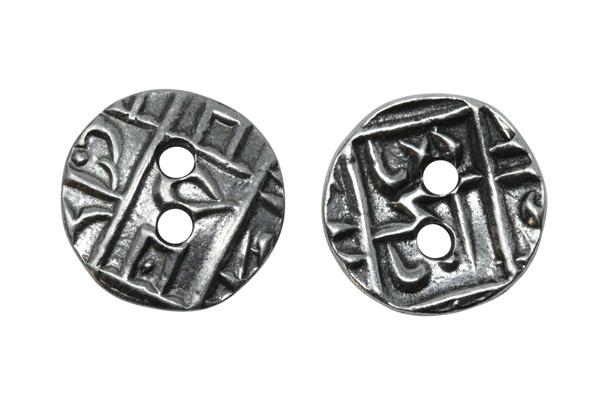 Coin Button - Antique Pewter