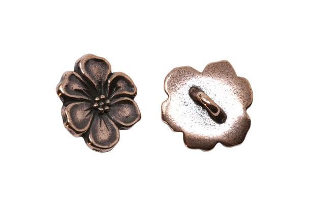 Apple Blossom Button - Copper Plated