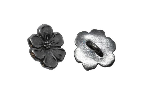 Apple Blossom Button - Gunmetal