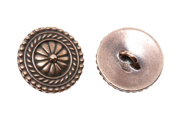 Bali Button - Copper Plated
