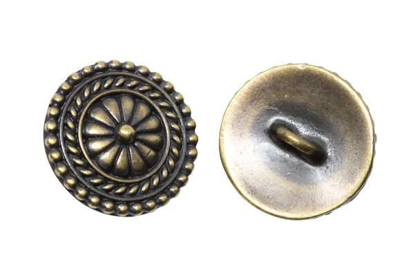 Bali Button - Brass Plated