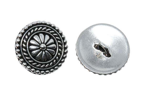 Bali Button - Silver Plated