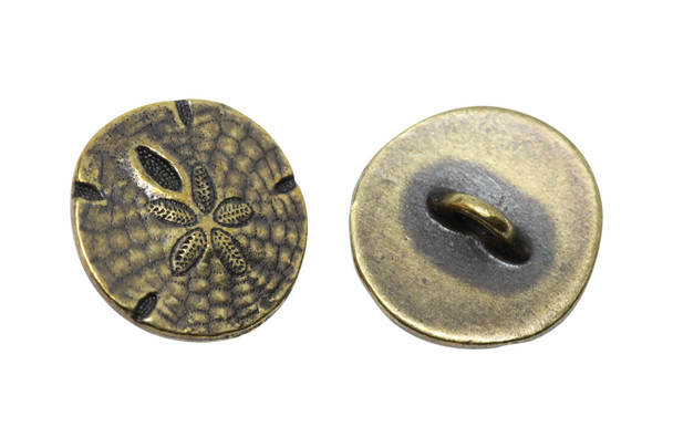Sand Dollar Button - Brass Plated