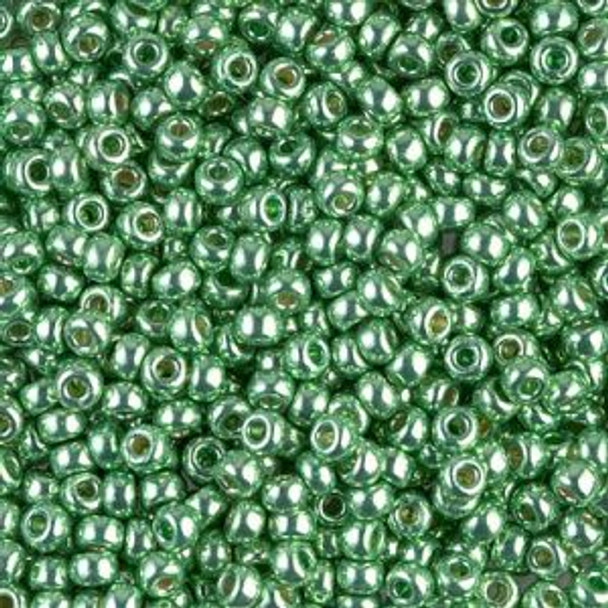 Size 8 Miyuki Seed Beads -- D4214 Duracoat Galvanized Dark Mint Green