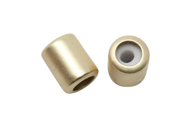 Silicone Barrel Bead - 7mm Satin Hamilton Gold
