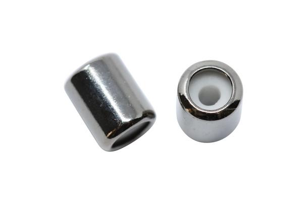 Silicone Barrel Bead - 7mm Gunmetal