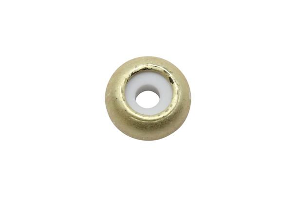 Silicone Rondel Bead - 8x4mm Satin Hamilton Gold
