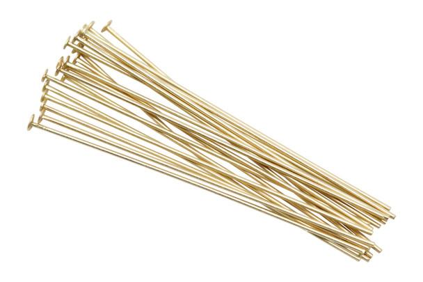 "Satin Hamilton Gold 1.5"" Long 24 Gauge Head Pins - 20 Pieces"