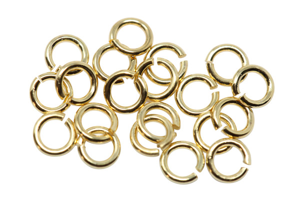 Gold Plated 3mm 22 Gauge OPEN Jump Rings - 20 Pieces