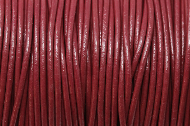 Corida Red 1.5mm Leather Cord - Sold by the Foot
