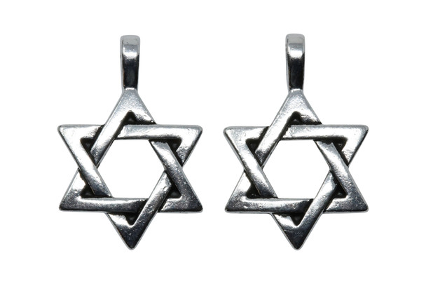 Star of David Pendant - Silver Plated
