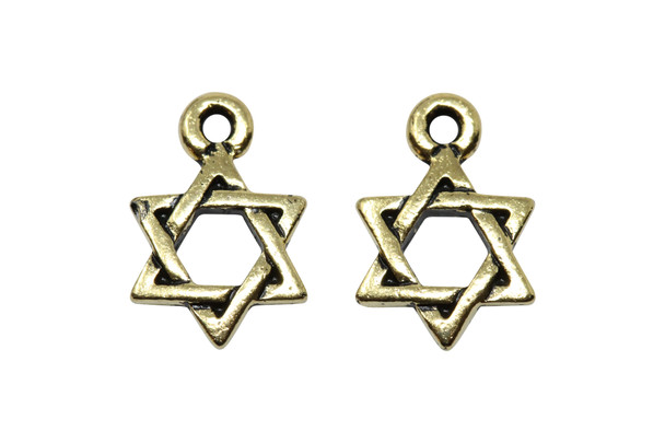 Star of David Charm - Gold Plated