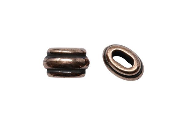 Deco 4x2mm Barrel Bead - Copper Plated