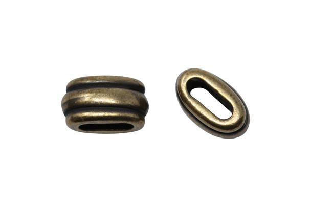 Deco 6x2mm Barrel Bead - Brass Plated