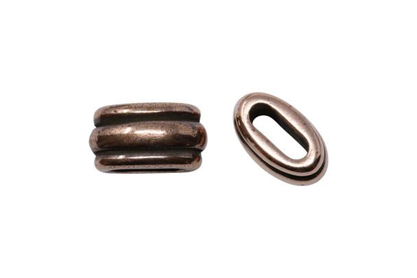 Deco 6x2mm Barrel Bead - Copper Plated