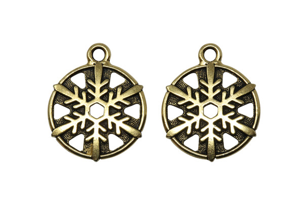 Snowflake Charm - Gold Plated