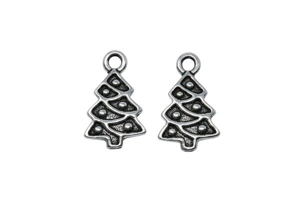 Christmas Tree Charm - Silver Plated