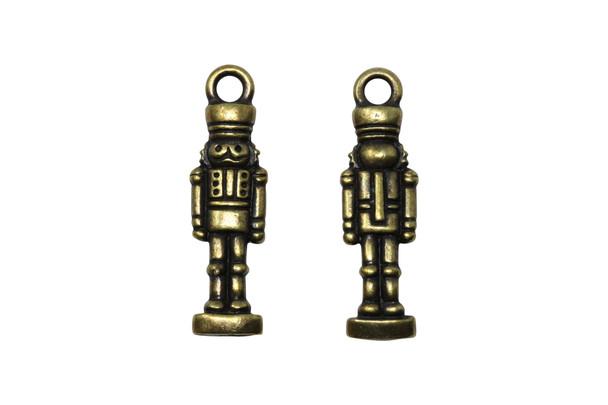Nutcracker Charm - Brass Plated