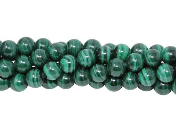 Malachite Grade A Polished 6mm Round