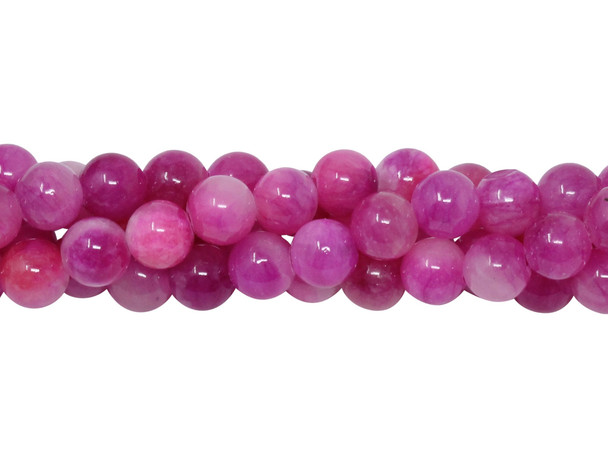 Dyed Jade Hot Pink Polished 6mm Round